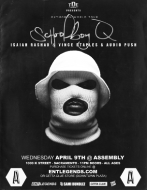 EVENT: ScHoolboy Q Late Show at Assembly on April 9