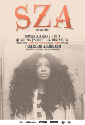 EVENT: Sza Live at Harlow's Monday, December8