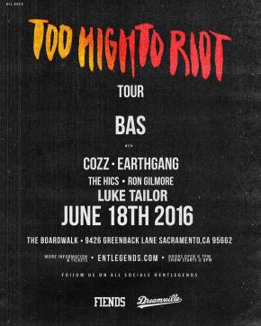 Event: Bas Live at The Boardwalk June 18